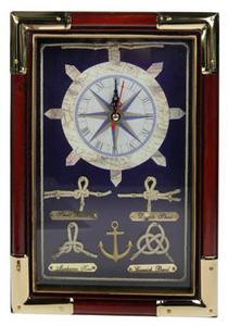 Коллаж-ключница с часами (33845)