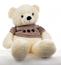 """Большой плюшевый медведь """"Нестор"""" (бел. в кофте, большой ) (222198)"""