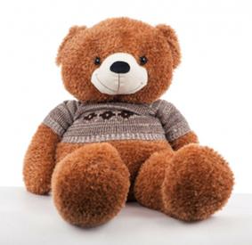 """Медведь """"Нестор"""" (корич. в кофте, большой)  (222181)"""