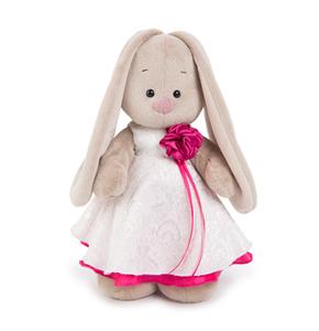 Зайка Ми в белом платье с розой(малая)(StS-171)