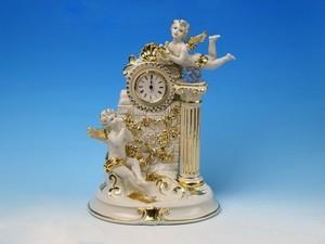 Часы с купидонами позолоченные (515-333)