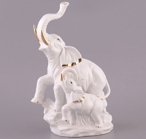 "Фигурка ""Слон со слоником (227-129)"