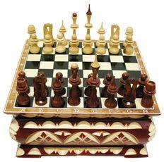 "Шахматы резные ""Ларец № 3"" (AP -06.03.013)"