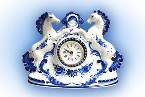 "Часы ""Кони"" (НХПCH0003-15)"