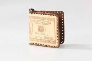 Зажим для денег (натуральная кожа) (057-10-01)