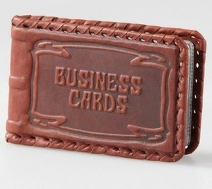 Визитница карманная, малая односекционная (004-07-01)