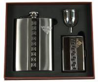 Подарочный набор VIRON: фляжка 8oz, портсигар, воронка (45333)