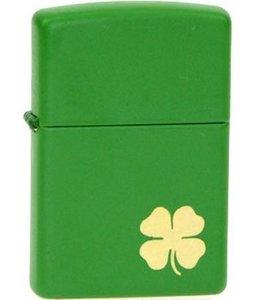 Зажигалка Zippo код: метал, клевер, зелёный цвет 1111111111 (21032S)