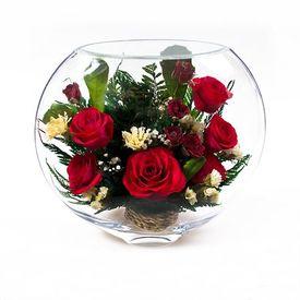 Композиция из натуральных роз (ESR-06)