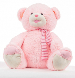 """Медведь """"Тоша"""" (розовый-большой) (220330)"""