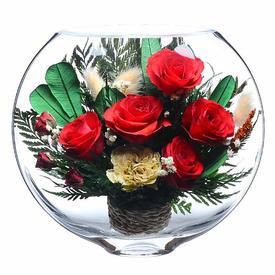 Композиция из натуральных роз (ESR-04)