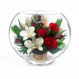 Композиция из роз и орхидей (ESM-05)