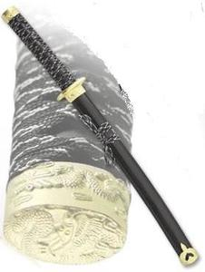 Самурайский меч маленький (50024-BK-YL/3)