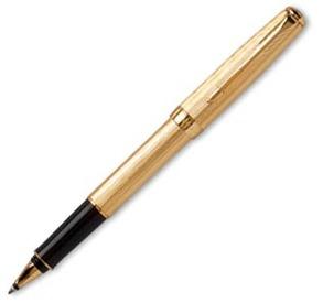 Роллерная ручка Паркер Сонет. Модель Chiselled.1. Golden GT.PARKE (S0808260)