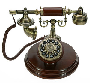 Телефон-ретро на подставк (36094)