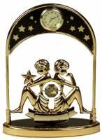 """Фигурка декоративная - знак зодиака с часами """"Близнецы"""" 14см (67326)"""