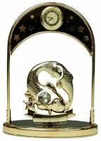 """Фигурка декоративная - знак зодиака с часами """"Рыбы"""" 14см (67335)"""