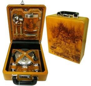 Подарочный набор в кейсе из натуральной кож (023-3/н.к.)