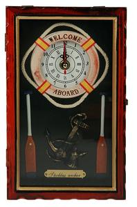 Коллаж-ключница Морская с часами 15*25*7см (33860)