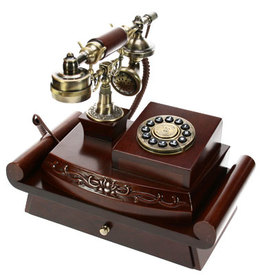 Телефон-ретро на подставк (36093)
