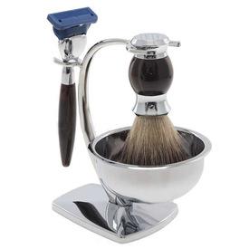 691149 Набор для бритья с подставкой (станок, помазок из ворса барсука, чаша для бритья )