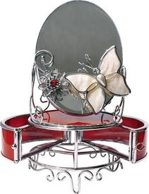"""Зеркало с шкатулкой """"Красный глянец"""" (HS-22787H)"""