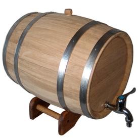 Дубовая бочка Магарыч 10 литров с краном на подставке (10л)