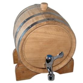 Дубовая бочка Магарыч 3 литра с краном на подставке (3л)