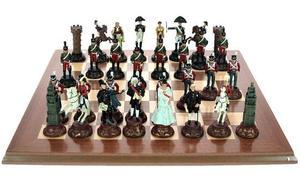 """Шахматы из олова """"Воины в битве при Ватерлоо"""" (44410)"""
