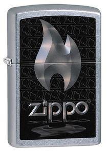 "Зажигалка Zippo ""Flame"" Street Chrom (28445Flame)"
