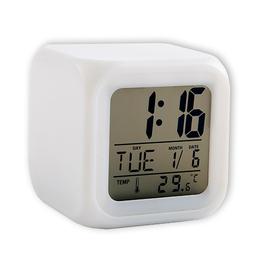 """Часы """"Куб"""" с меняющейся подсветкой (158212)"""