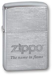 "Зажигалка ZIPPO ""Name in flame"" Brushed Chrom (200 Name in flame)"