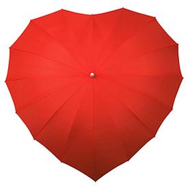Зонт красный в виде сердц (93160)