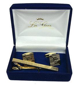 """Подарочный набор """"LA GEER"""": заколка для галстука, запонки (61318)"""