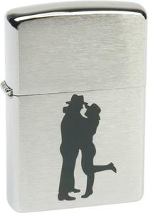 "Зажигалка ZIPPO ""Cowboy Couple"" Brushed Chrom (200 Cowboy Couple)"
