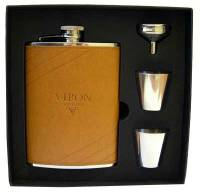 """Подарочный набор """"VIRON"""": фляжка 8oz, воронка, 2 стакана (45099)"""